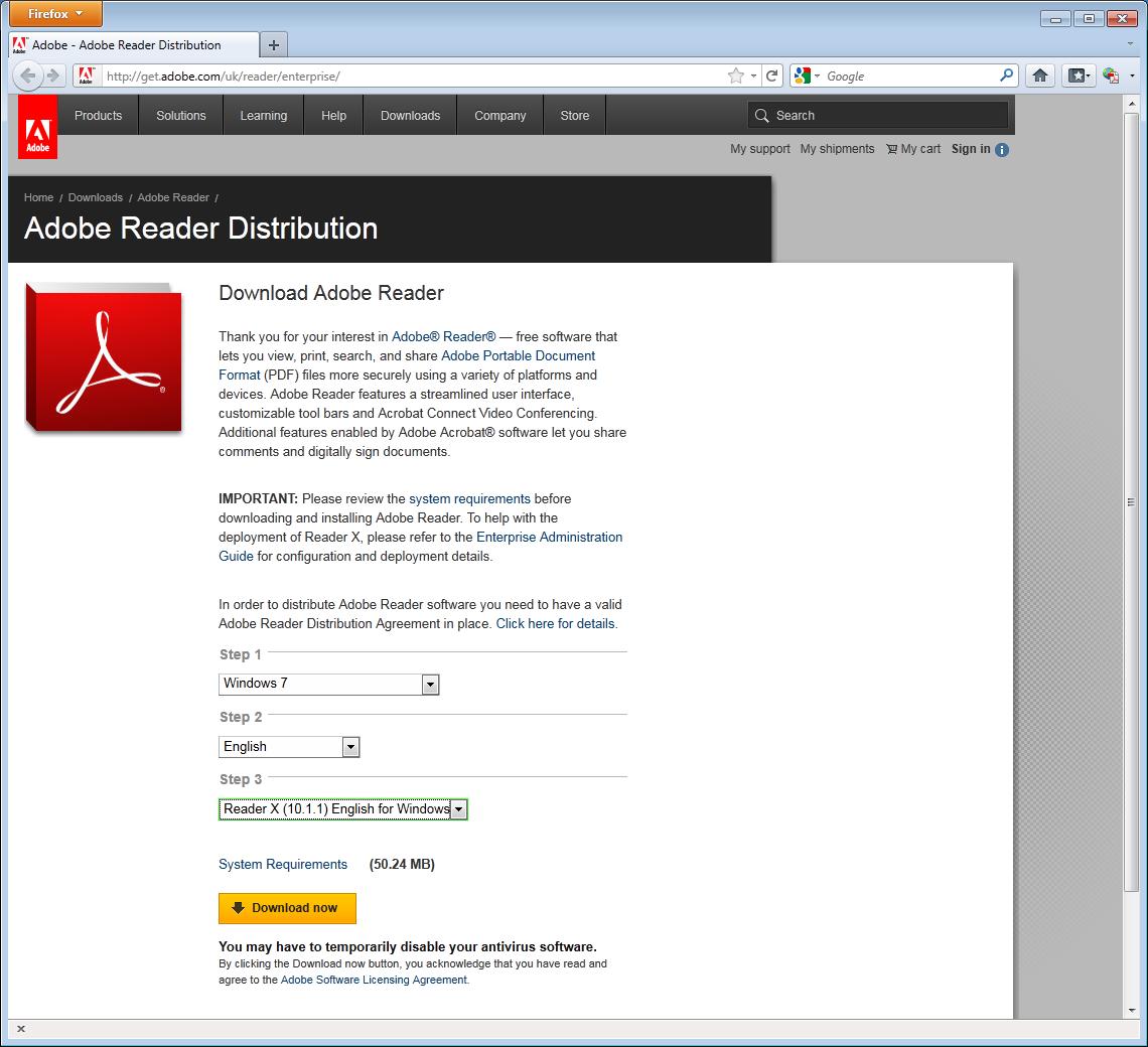 adobe enterprise download